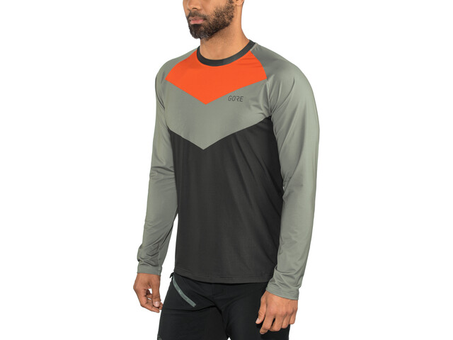GORE WEAR C5 Trail Longsleeve Jersey Herr terra grey/orange